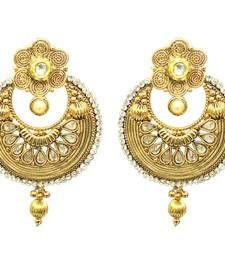 Traditional Golden Earring Set For Women Designer Jewellery Online