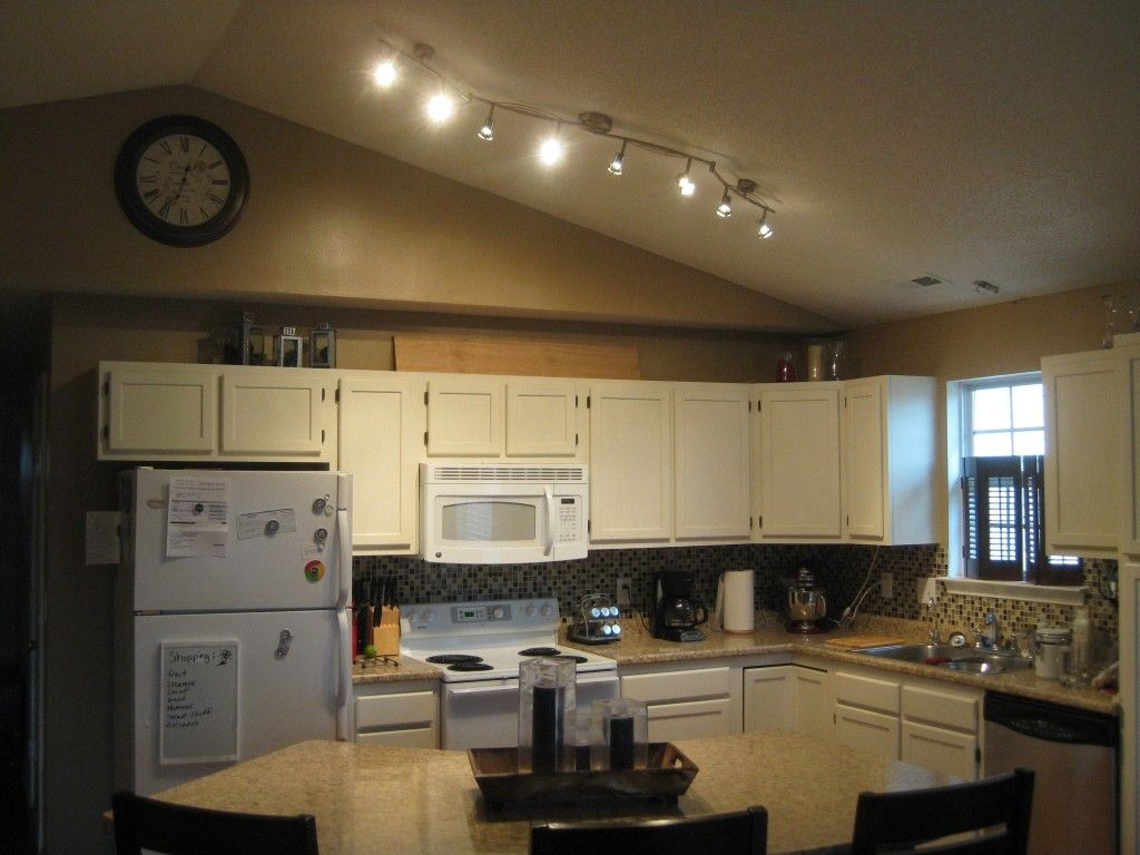 Track Lighting For Vaulted Kitchen Ceiling In 2019