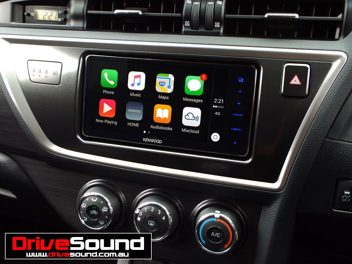 Toyota Corolla with Apple CarPlay installed by DriveSound