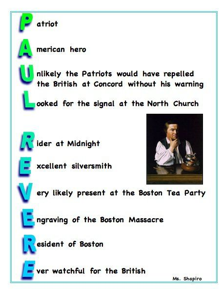 Poem The Midnight Ride of Paul Revere - Google Search | Language ...