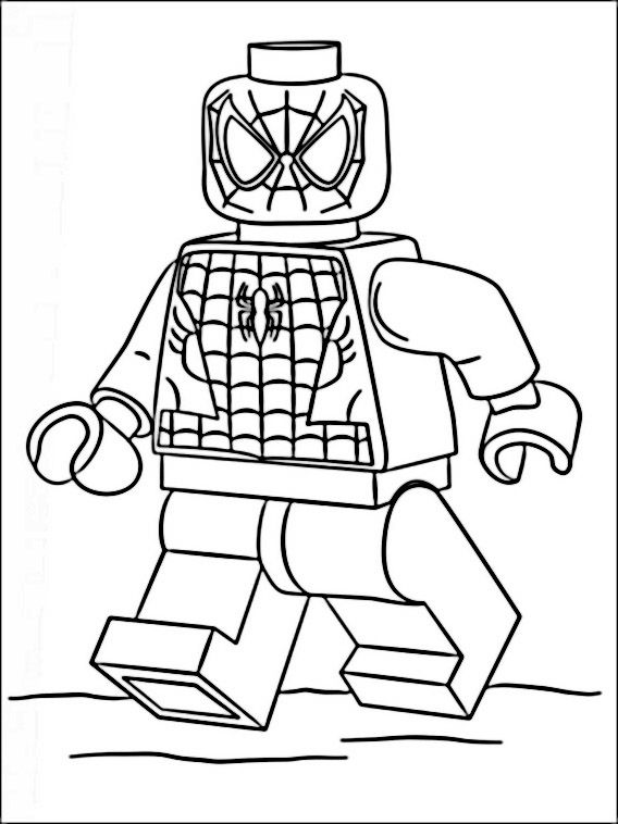 Lego Marvel Heroes Coloring Pages 9 | Coloring pages for kids ...