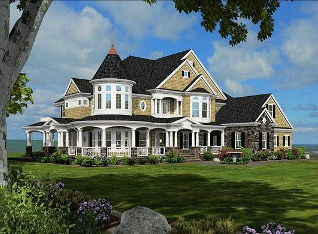 Plan 23500jd Magnificent Shingle Style Dream Home Victorian House Colors Victorian Homes Victorian House Plans