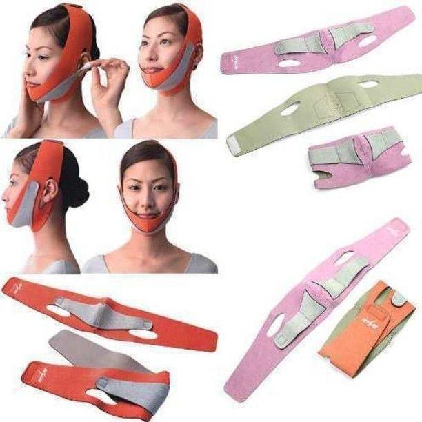 المشد السحري لشد بشرة الوجه وإطلالة براقة بعد غسل الوجه يتم ارتداءه مدة 20 إلى 40 دقيقة ثم يشطف الوجه مرة أخرى وينصح باستعم Cheek Lift Double Chin Slimmer Face