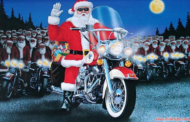 Motorcycle Usa, Christmas Post Cards 2020, Santa And Motorcyle Bikers Christmas | Motorcycle christmas, Santa claus pictures