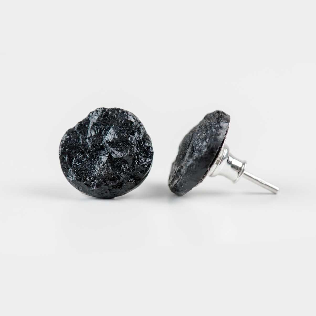 Kolczyki regularne z węgla pln dodatki pinterest brokat