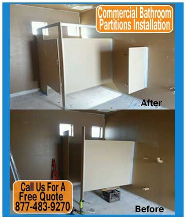 Commercial Restroom Partitions Was Contracted By Pulte Homes To - How to install bathroom partitions