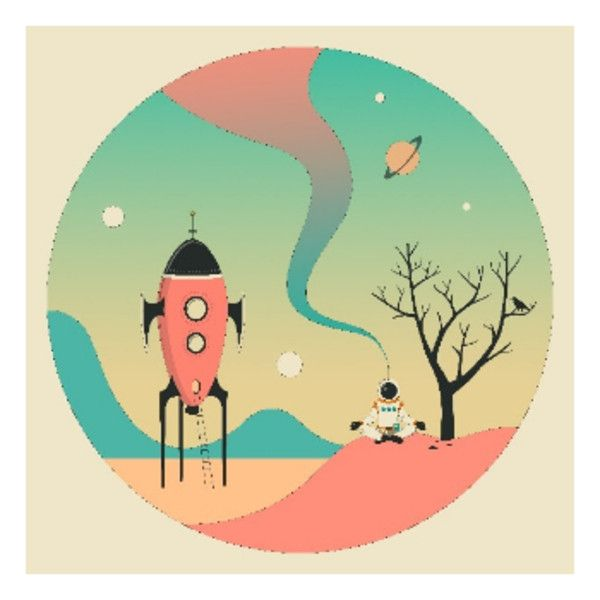 Jazzberry Blue Explore 2 Space Ship A1 Framed Print ($160) ❤ liked ...