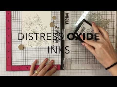 (74) Create a Card: Water Colouring With Distress Oxide Inks - YouTube