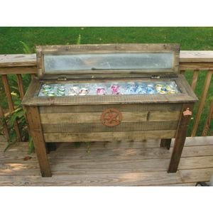 Wooden Patio Cooler Another Use For Barn Wood Make An Outdoor