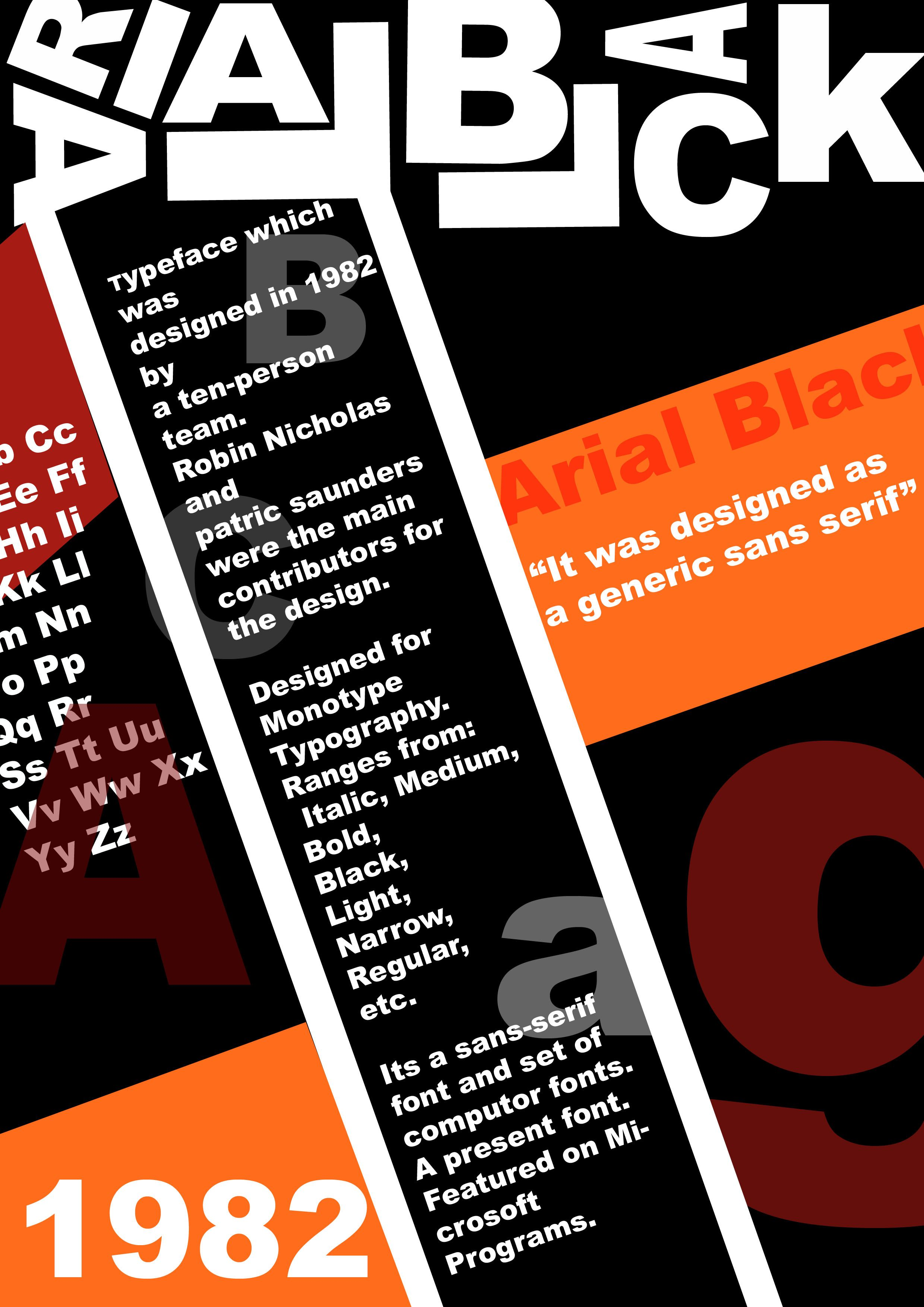 Typography Poster Arial Black  As Graphics Portfolio