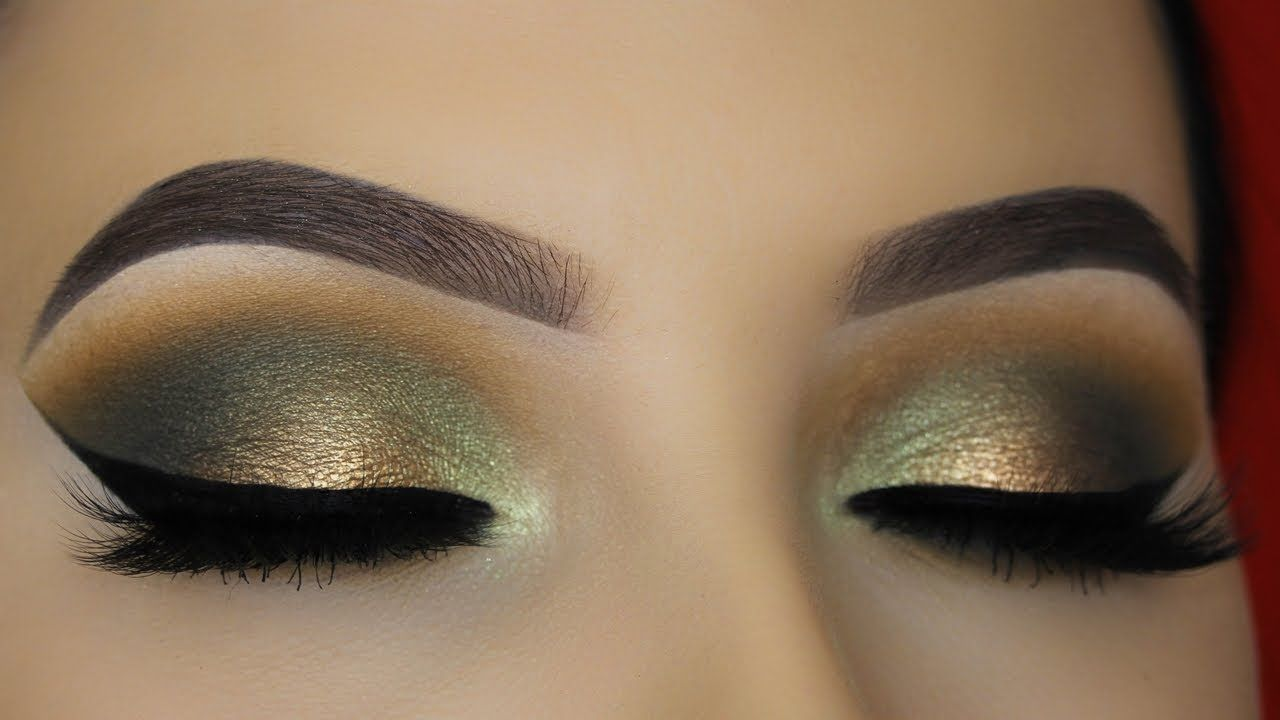 Smokey Golden Olive Eye Makeup Tutorial - ABH Subculture Palette