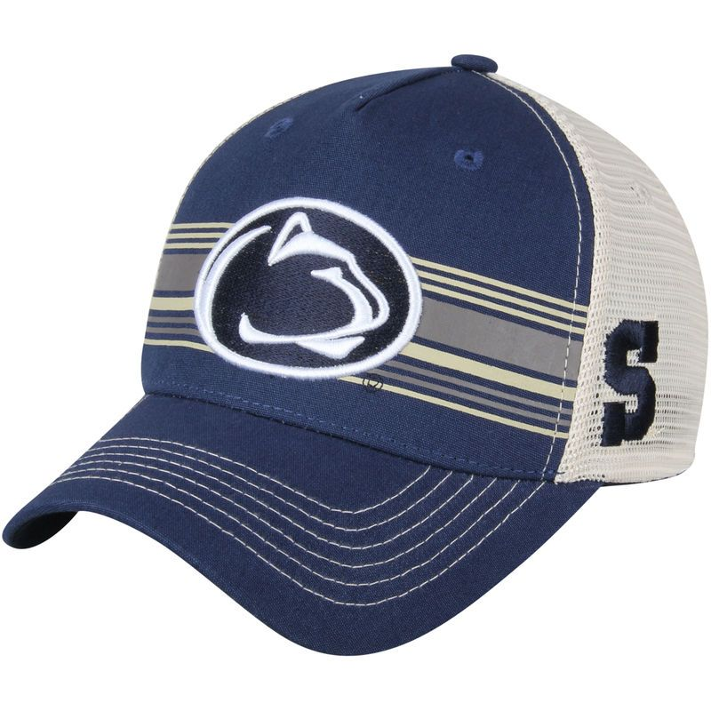 Penn State Nittany Lions Top of the World Sunrise Trucker Adjustable Hat - Navy/White
