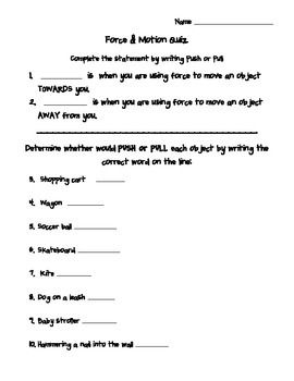 38++ Force and motion worksheets for 8th grade pdf Info
