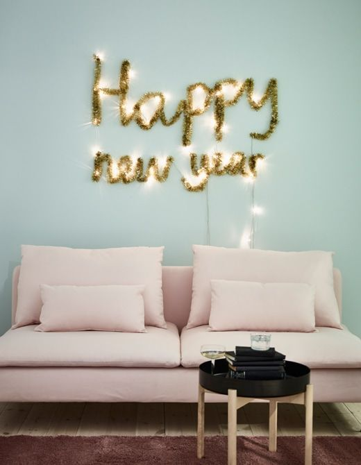 New Years Eve Decorations from Gift Paper, Glitter ...