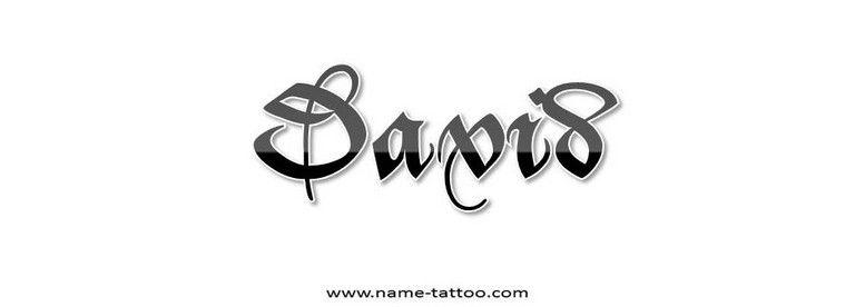 Name Tattoo Name Tattoo David 044