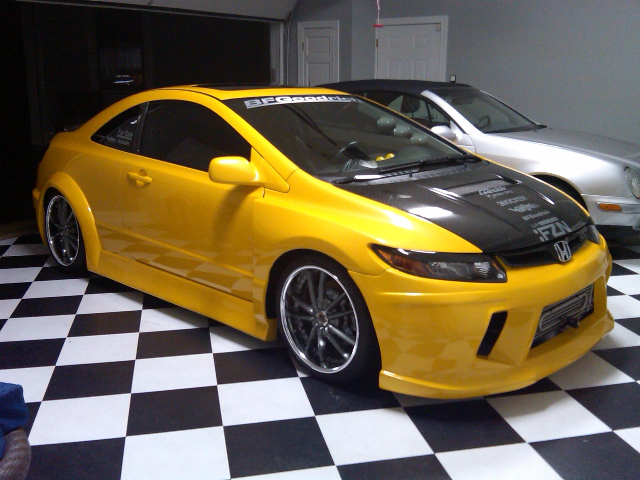 Yellow Honda Civic Si 197 Honda civic si, Honda civic, Honda