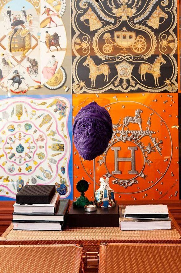 Clever Use Of Hermes Scarves Hermes Scarf Hermes Home Diy Wall Art