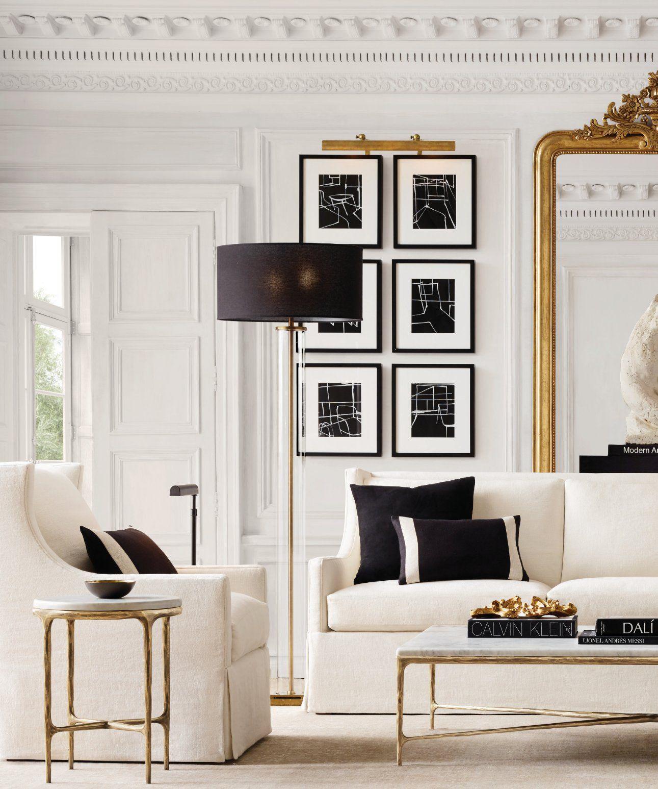 Rh Source Books Living Room Designs House Interior Room Decor