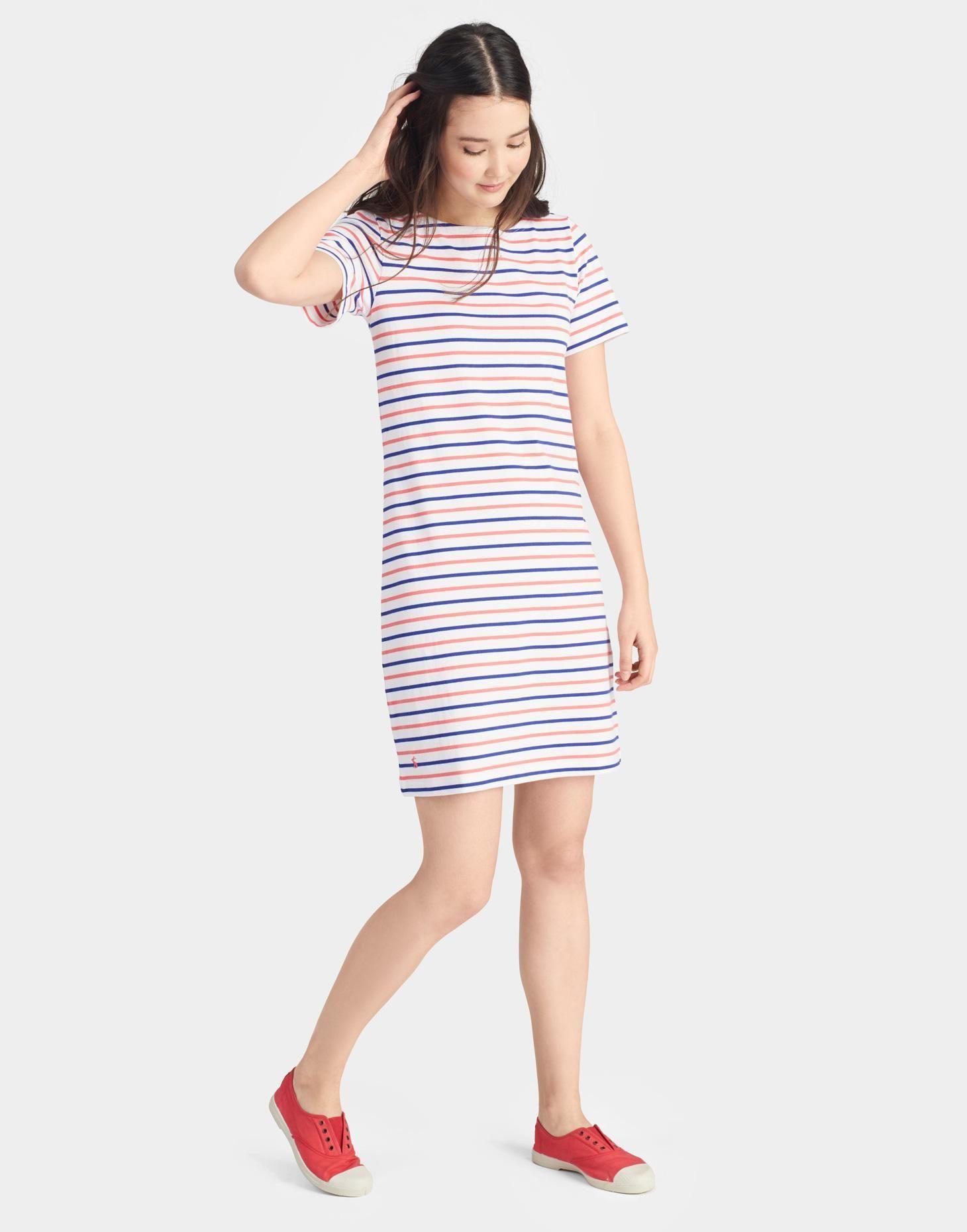 d103c8096641 Riviera Pink Blue Stripe Jersey T-Shirt Dress