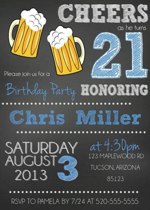 Pin By Tammies Reinhart On Anthony 21 Birthday Ideas 21st Birthday Invitations Birthday Party 21 21st Birthday Party Themes
