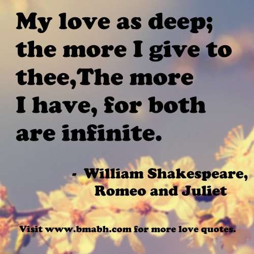 Romantic I Love You Quotes My Love As Deep The More I Give To