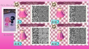 Pink Ice Skater Dress by GumballQR Acnl, Animal crossing