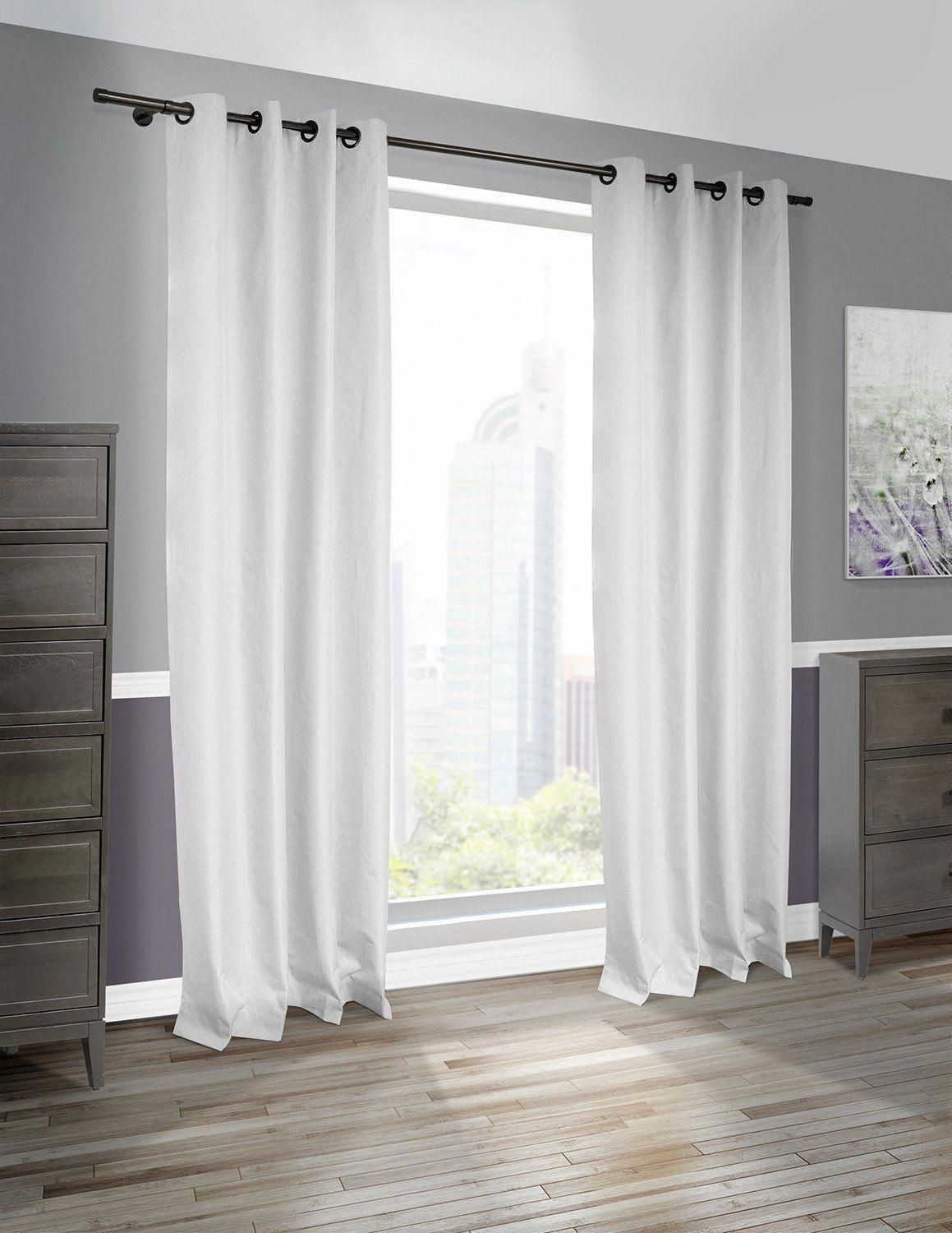 Cabo linen look blackout curtain panel pair