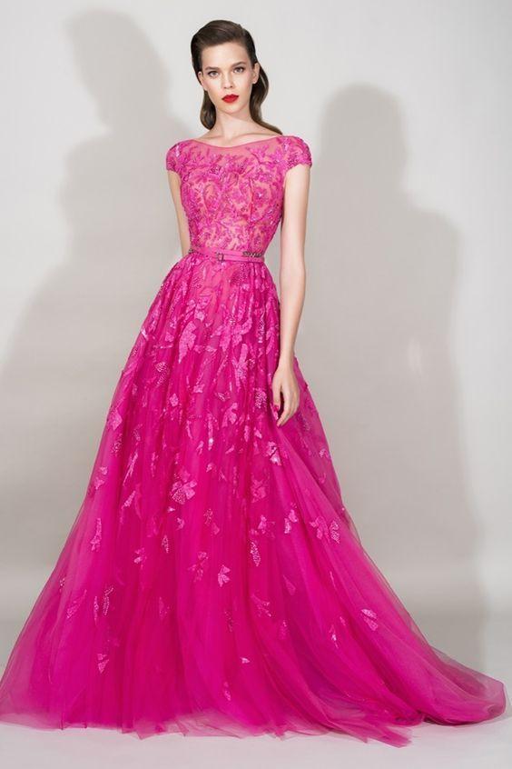 20 vestidos de festa cor de rosa | Vestiditos, Vestido elegante y ...