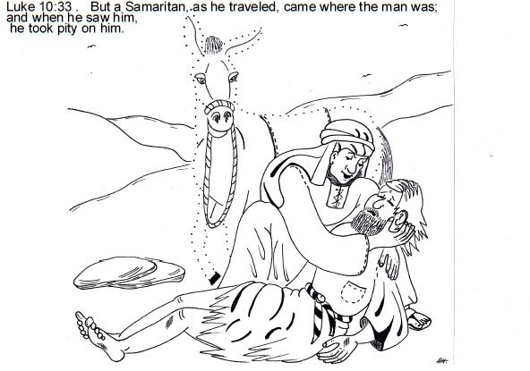 Parable of the good Samaritan ~ Sunday School lesson