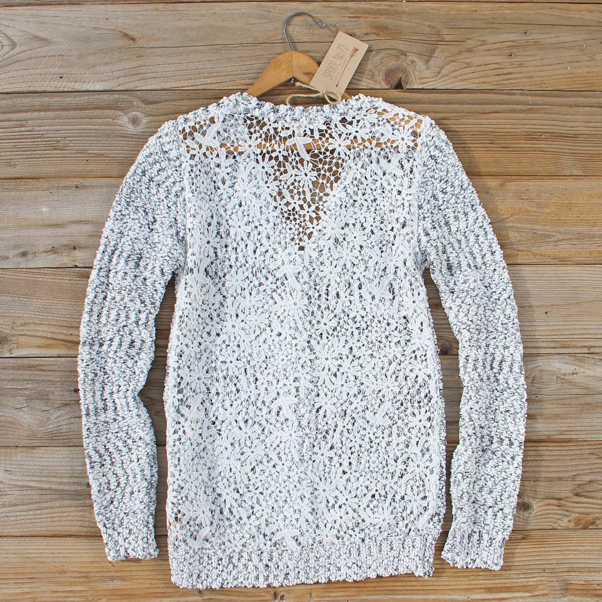 The Lace Leaf Sweater... Pair with a tee & jeans and you are set for a cozy casual outfit.