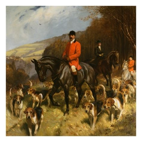 Painting of Mr. and Mrs. Lewis Priestman With the Braes of Derwent Hunt by John Charlton