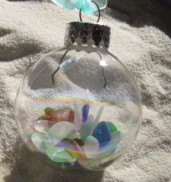 Items Similar To Sea Glass Ornament Greetings From The Jersey Shore Donates To Disaster Relief On Etsy
