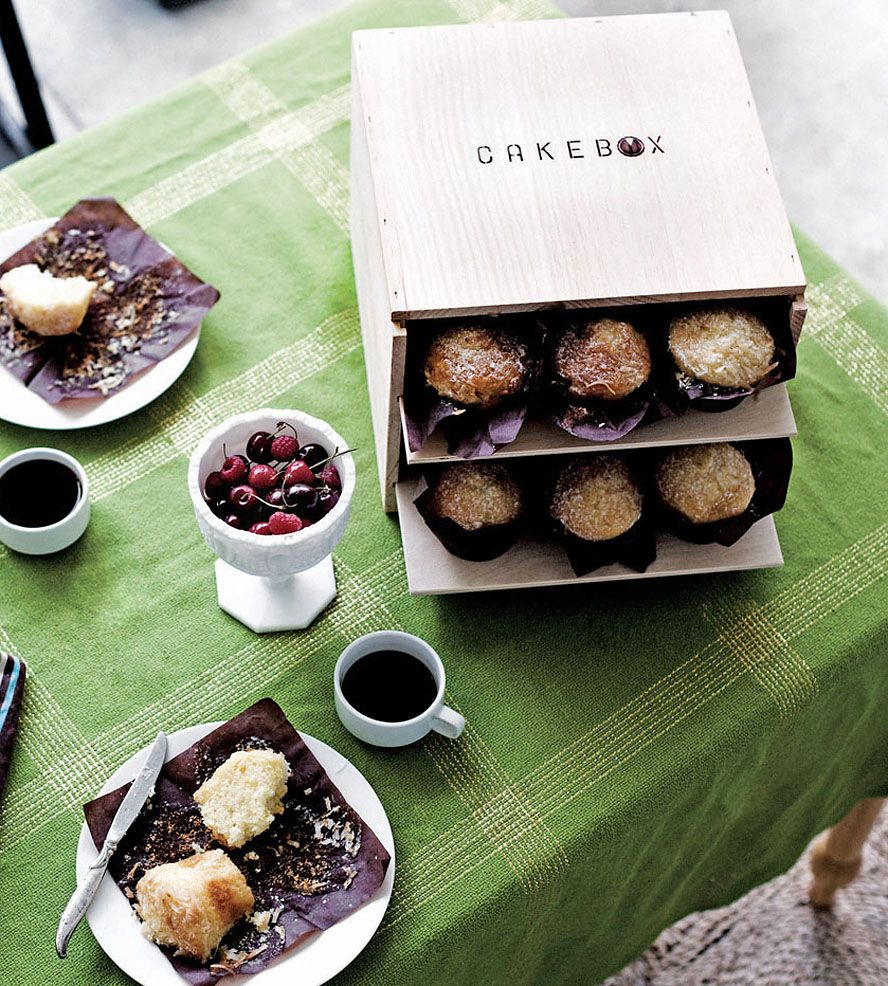 Cakebox by Piebox on Scoutmob Shoppe. A reusable raw pinewood box designed to safely carry cakes and cupcakes (with a handy dandy insert) to all of your holiday soirees.