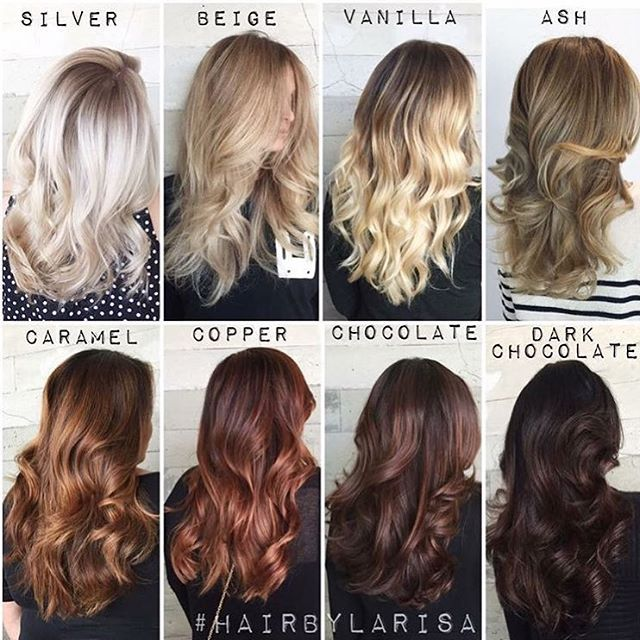 One of our fave color charts of all time by @larisadoll - hair color chart