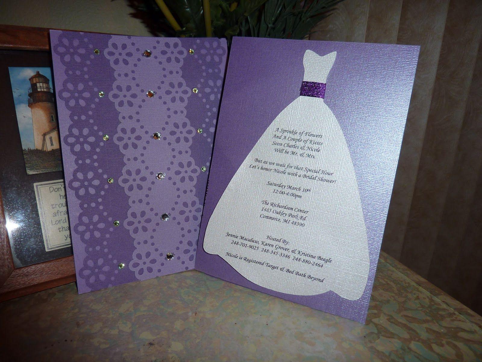 cricut bridal shower invitation Live.Love.Laugh.Scrap