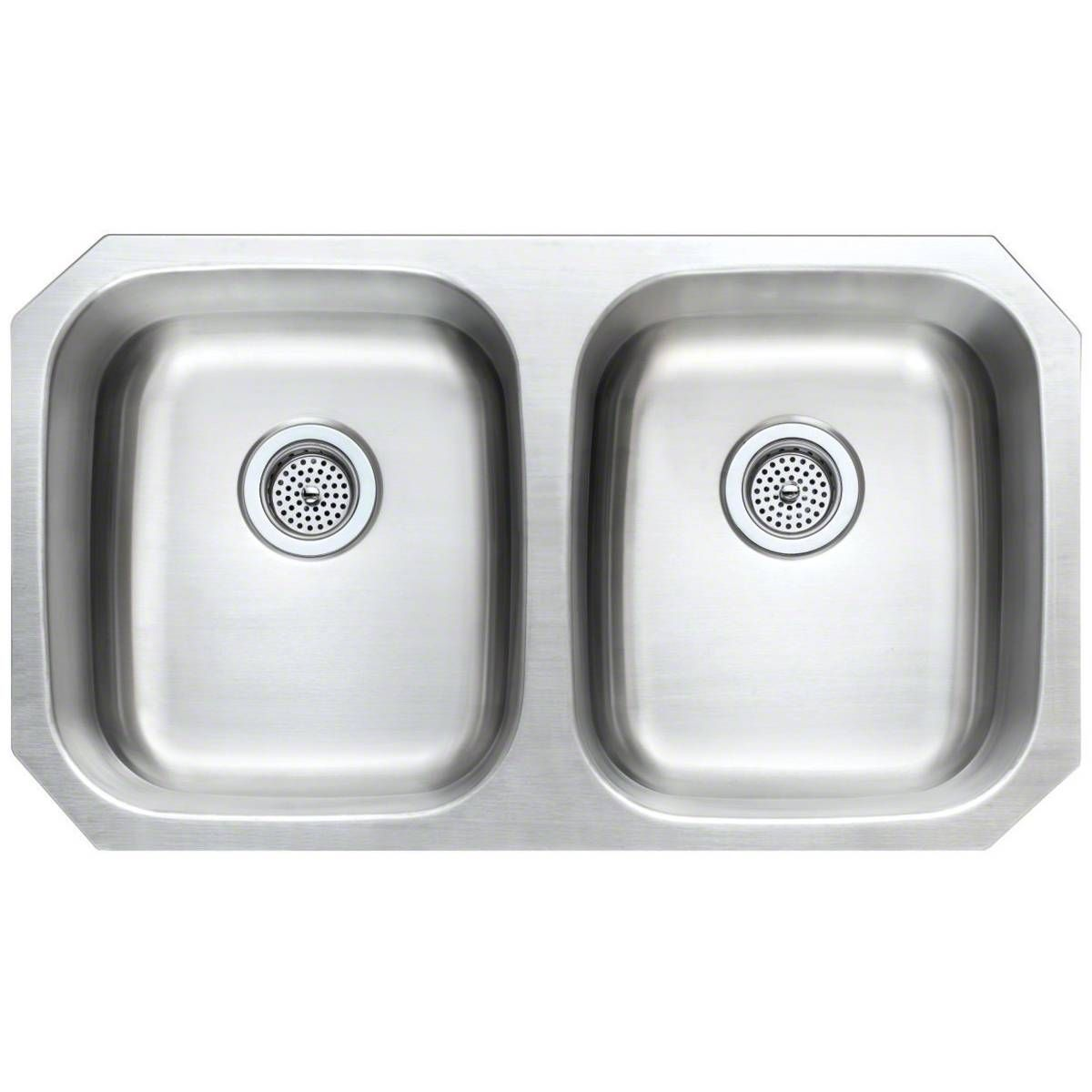 Stainless Steel Low Divide Split Kitchen Sink Measuring 33 X 22