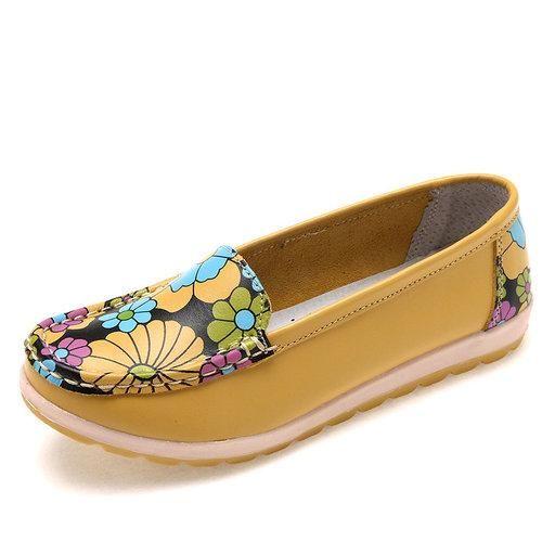 Shoes For Women Fleece Flat Heel Comfort Round Toe Loafers Slip-on Outdoor Casual Yellow Gray Khaki