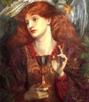 The Holy Grail by nineteenth-century Pre-Raphaelite painter Gabriel Rossetti