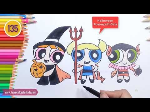 learn draw halloween powerpuff girls powerpuff girls coloring book