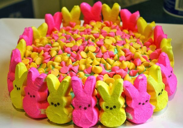 Easter Peeps Cake Recipe | Easter Dessert | Easter Party | Easter Desserts | Easter Treat || The Chirping Moms