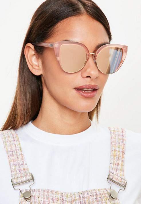 c92b3a07c1 Missguided Quay Australia x Blush Gold Revo Oh My Dayz Sunglasses ...