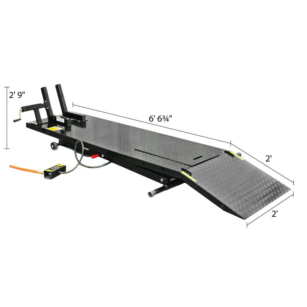 Black Widow Pneumatic Motorcycle Lift Table 1 000 Lbs Capacity Motorcycle Lift Table Lift Table Bike Lift