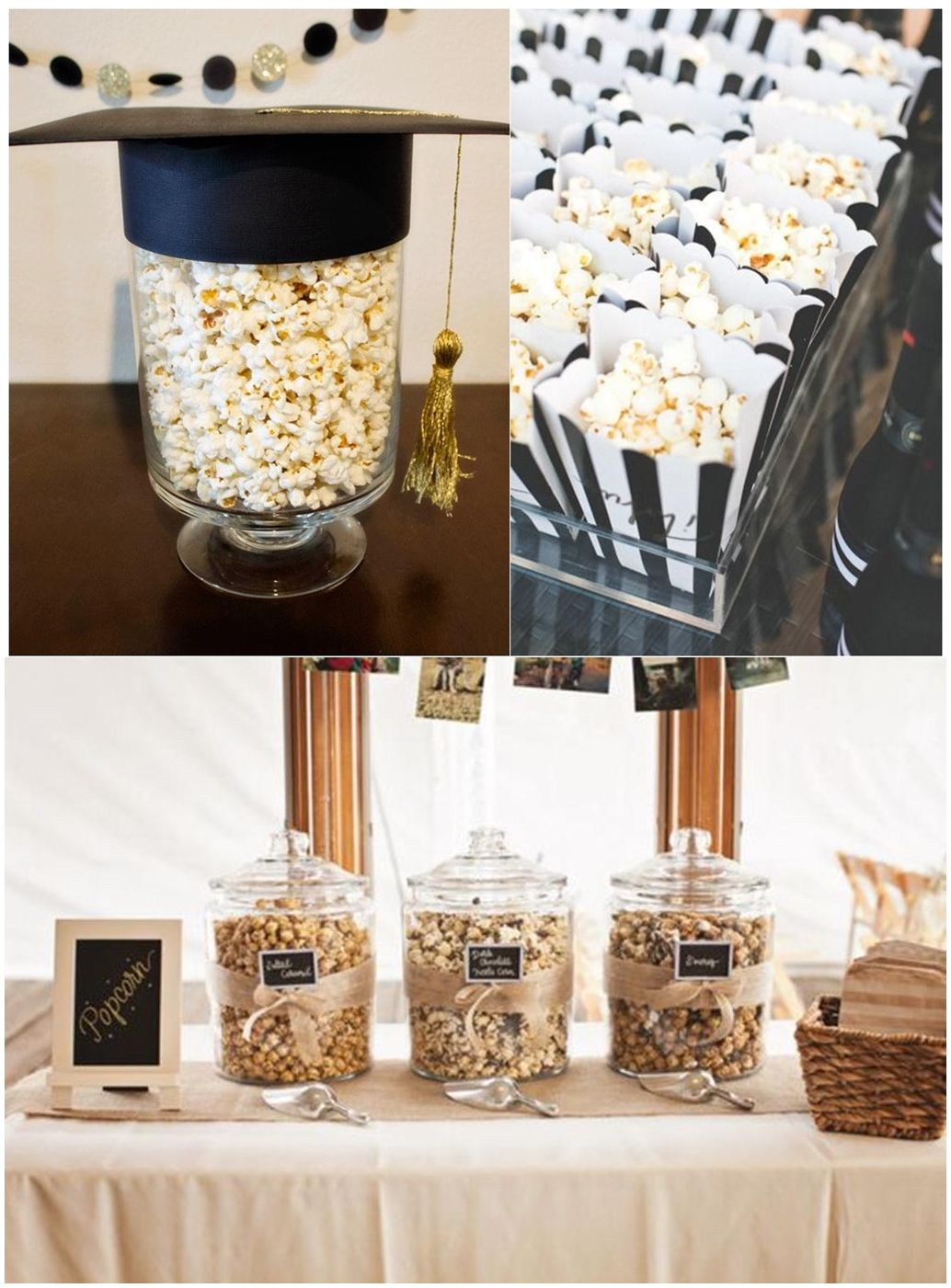 Black And Gold Table Decoration Ideas Gold Graduation Party