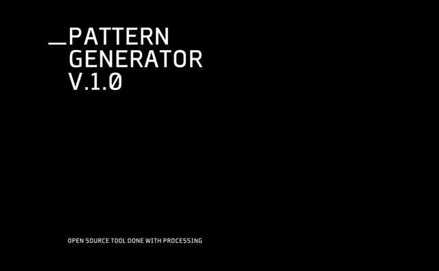 Pattern Generator V 1 0