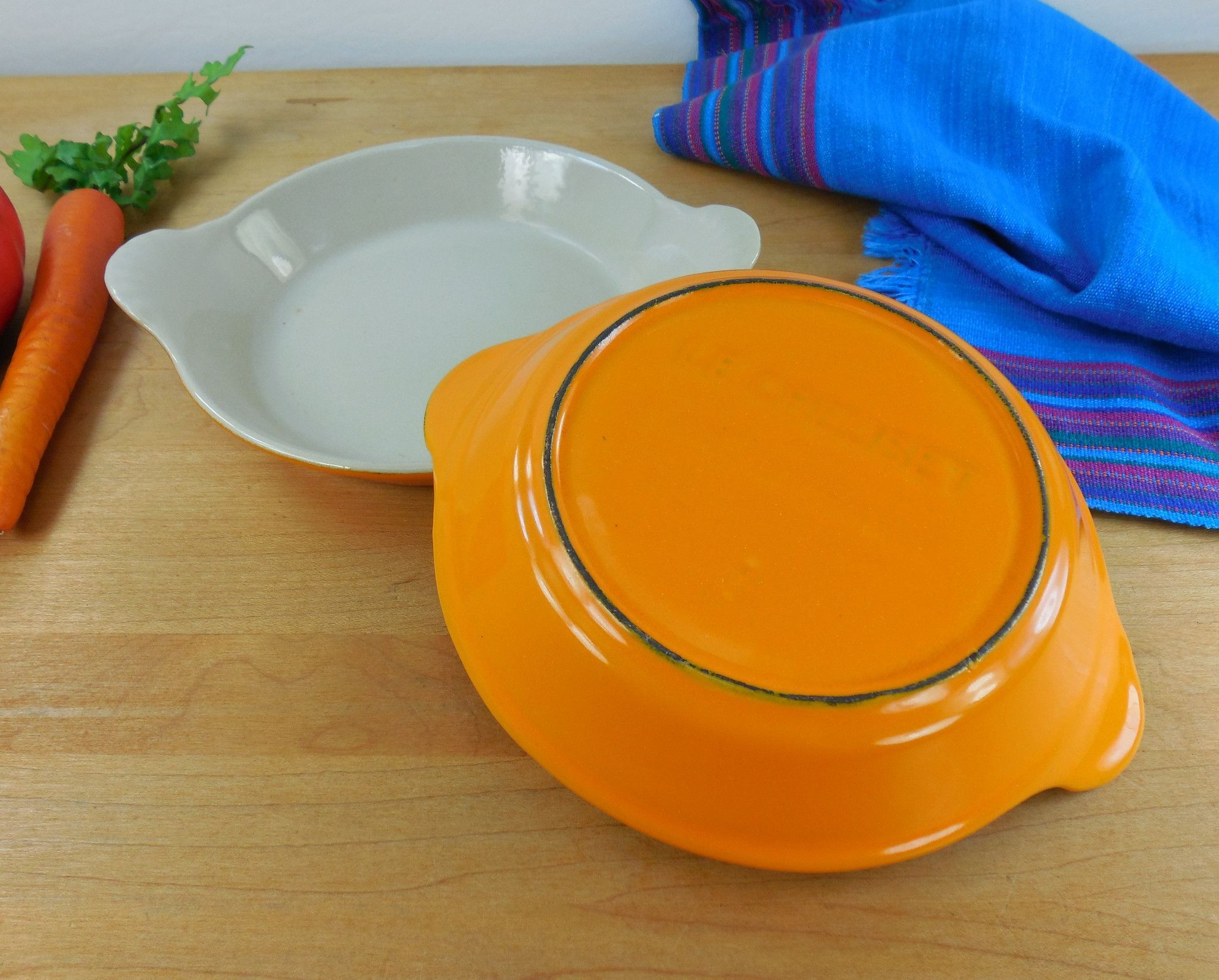 Le Creuset #3 Round Au Gratin Pans - Sunflower Orange Yellow ...