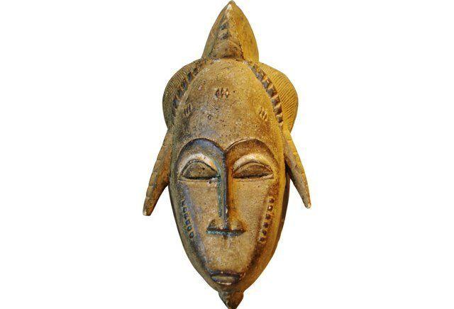 African Baule Tribal Mask, Ivory Coast
