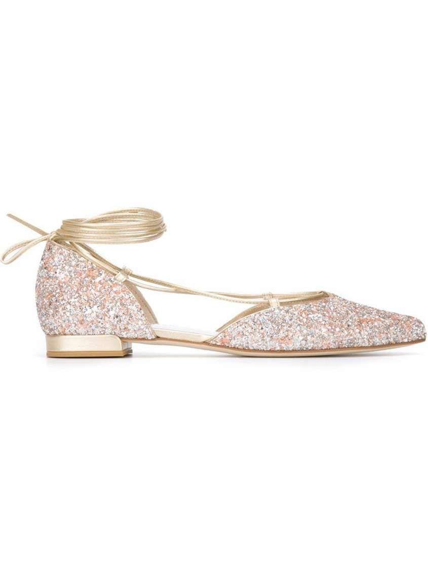 best website c333f 4e3af Scarpe basse da sposa 2016 - Ballerine glitterate Stuart ...