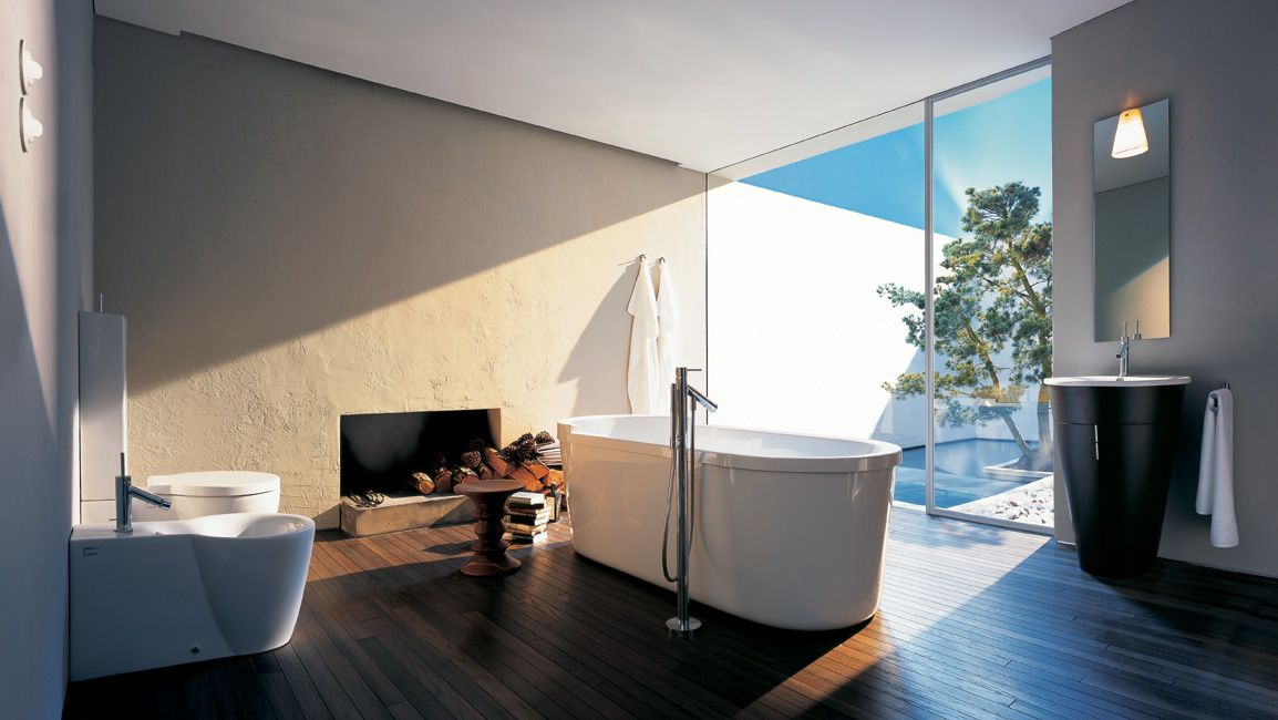 Axor Starck Bad | Bathroom | Pinterest | Kamine, Bad Inspiration ... Badarmaturen Von Hansgrohe Axor Stark V Ist Perfektion Aus Glas