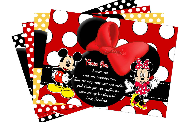Mickey Mouse Ticket Invitations Template  MickeyMinnie Birthday