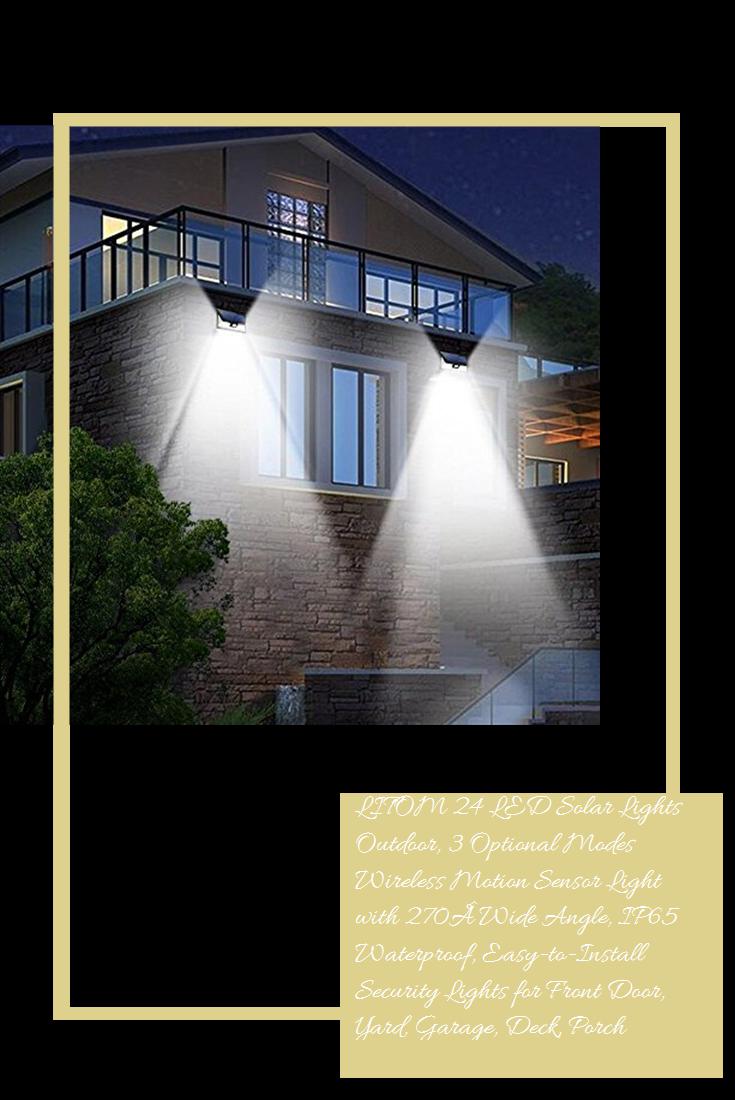 Litom 24 Led Solar Lights Outdoor 3 Optional Modes Wireless